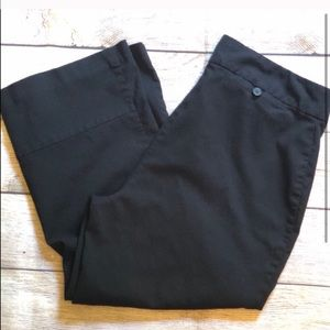 Express Black Stretch Capris